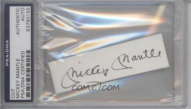 1900-Present Authenticated Cut Signatures/Notecards/Photographs - [Base] #MIMA - Mickey Mantle [PSA/DNA Certified Encased]