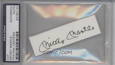 1900-Present Authenticated Cut Signatures/Notecards/Photographs - [Base] #MIMA - Mickey Mantle [PSA/DNACertifiedEncased]