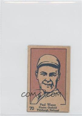 1928 W513 Strip Card - [Base] #70 - Paul Waner