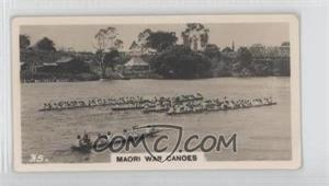 1928 Wills A Sporting Holiday in New Zealand - Tobacco [Base] #35 - Maori War Canoes