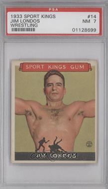 1933 Sport Kings Gum - [Base] #14 - Jim Londos [PSA7]