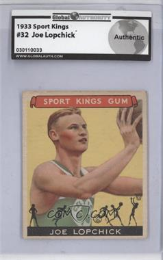 1933 Sport Kings Gum - [Base] #32 - Joe Lopchick [GAIAUTHENTIC]