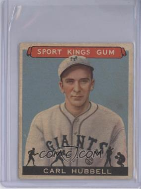 1933 Sport Kings Gum - [Base] #42 - Carl Hubbell [Good to VG‑EX]