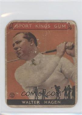 1933 Sport Kings Gum - [Base] #8 - Walter Hagen [Poor to Fair]