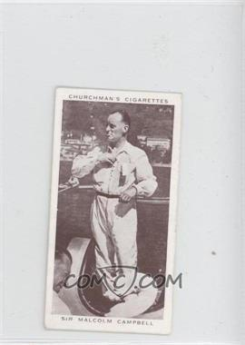 1939 Churchman's Kings of Speed - Tobacco [Base] #36 - Sir Malcom Campbell