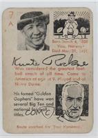 Knute Rockne, Bernie Bierman [GoodtoVG‑EX]