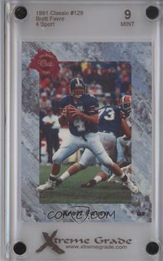 1991 Classic Draft Picks - [Base] #129 - Brett Favre [ENCASED]