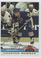 Brett Hull (Boston Bruins in Background)