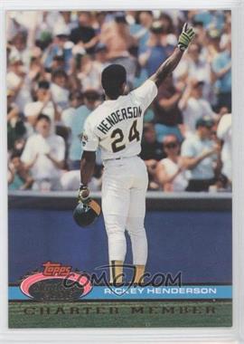 1991 Stadium Club Charter Member - [Base] #RIHE.1 - Rickey Henderson (White Jersey)