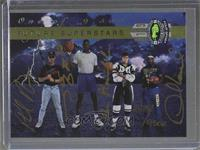 Shaquille O'Neal, Phil Nevin, Roman Hamrlik, Desmond Howard (Autographed) /9500
