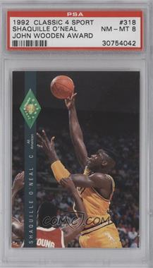 1992 Classic Four Sport Draft Pick Collection - [Base] #318 - Shaquille O'Neal [PSA8]