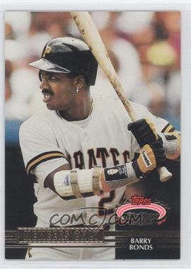 1992 Topps Stadium Club Members Only - Scoreboard #BABO - Barry Bonds