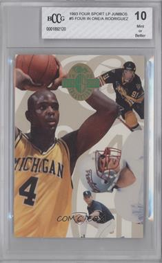 1993 Classic Four Sport Collection - Jumbo #N/A - Chris Webber, Alex Rodriguez, Drew Bledsoe, Alexandre Daigle /8000 [ENCASED]