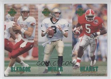 1993 Classic Four Sport Collection - Triple Card #TC2 - Drew Bledsoe, Garrison Hearst, Rick Mirer /65600