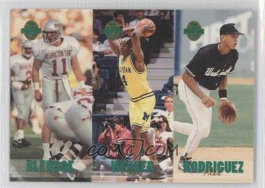 1993 Classic Four Sport Collection - Triple Card #TC5 - Drew Bledsoe, Chris Webber, Alex Rodriguez /65600