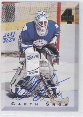 1994 Classic 4 Sport - Autograph #GASN - Garth Snow /3050