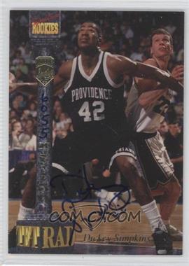 1994 Signature Rookies Tetrad - Signatures #73 - Dickey Simpkins /7750