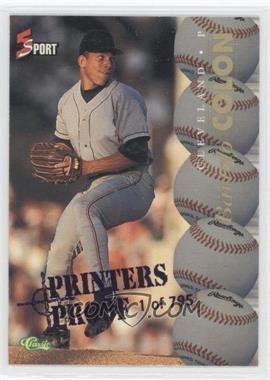 1995 Classic 5 Sport - [Base] - Blue Printers Proof #116 - Bartolo Colon /795