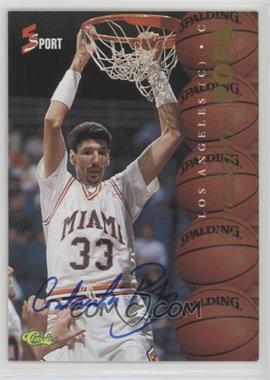 1995 Classic 5 Sport - [Base] - Non-Numbered Autographs [Autographed] #COPO - Constantin Popa