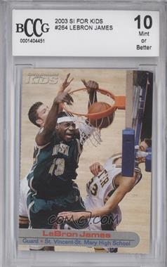 2001-05 Sports Illustrated for Kids - [Base] #264 - Lebron James [ENCASED]