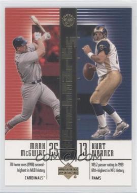 2002-03 Upper Deck UD Superstars - BenchMarks #B9 - Mark McGwire, Kurt Warner