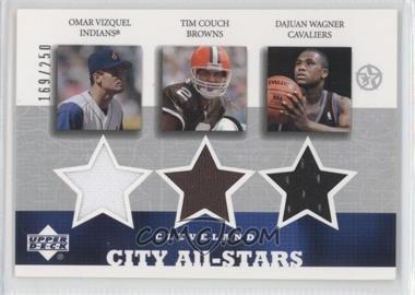 2002-03 Upper Deck UD Superstars - City All-Stars Jersey Triple #OV/TC/DW-C - Omar Vizquel, Tim Couch, Dajuan Wagner /250
