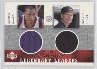 2002-03 Upper Deck UD Superstars - Legendary Leaders Dual #SM/RJ-L - Shawn Marion, Randy Johnson