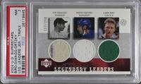 Joe DiMaggio, Wayne Gretzky, Larry Bird /250 [PSA 7]