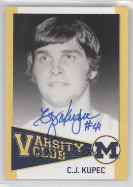 2004 TK Legacy Michigan Wolverines - Varsity Club Autographs #VC5 - C.J. Kupec