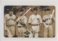 Babe Ruth, Lou Gehrig, Joe DiMaggio, Mickey Mantle [EX to NM]