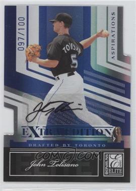 2007 Donruss Elite Extra Edition - [Base] - Aspirations Die-Cut Signatures [Autographed] #25 - John Tolisano /100