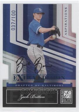 2007 Donruss Elite Extra Edition - [Base] - Aspirations Die-Cut Signatures [Autographed] #50 - Zach Britton /100