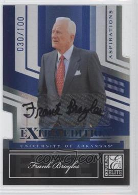 2007 Donruss Elite Extra Edition - [Base] - Aspirations Die-Cut Signatures [Autographed] #70 - Frank Broyles /100