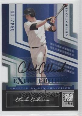 2007 Donruss Elite Extra Edition - [Base] - Aspirations Die-Cut Signatures [Autographed] #91 - Charlie Culberson /100