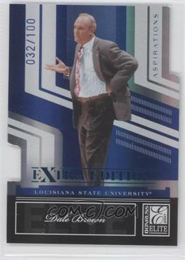 2007 Donruss Elite Extra Edition - [Base] - Aspirations Die-Cut #67 - Dale Brown /100