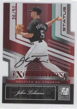 2007 Donruss Elite Extra Edition - [Base] - Status Die-Cut Signatures [Autographed] #25 - John Tolisano /50