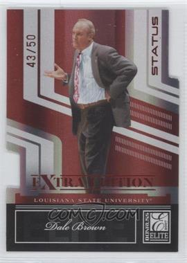 2007 Donruss Elite Extra Edition - [Base] - Status Die-Cut #67 - Dale Brown /50