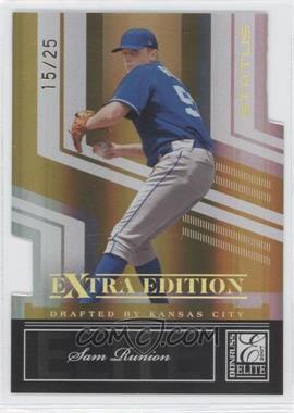 2007 Donruss Elite Extra Edition - [Base] - Status Gold Die-Cut #38 - Sam Runion /25