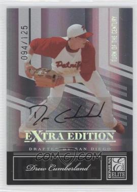 2007 Donruss Elite Extra Edition - [Base] - Turn of the Century Signatures [Autographed] #100 - Drew Cumberland /125