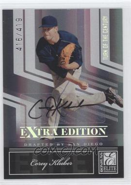 2007 Donruss Elite Extra Edition - [Base] - Turn of the Century Signatures [Autographed] #13 - Corey Kluber /419