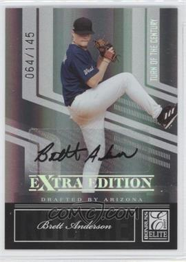 2007 Donruss Elite Extra Edition - [Base] - Turn of the Century Signatures [Autographed] #95 - Brett Anderson /145
