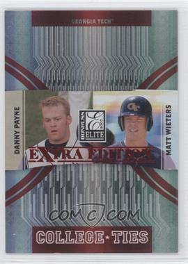 2007 Donruss Elite Extra Edition - College Ties - Red #CT-8 - Matt Wieters, Danny Payne /100