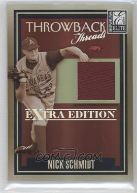 2007 Donruss Elite Extra Edition - Throwback Threads #TT-NS - Nick Schmidt /500