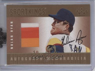 2007 Sportkings Series A - Autograph Memorabilia - Gold #AM-NR - Nolan Ryan