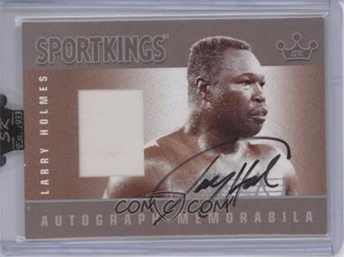 2007 Sportkings Series A - Autograph Memorabilia - Silver #AM-LH - Larry Holmes