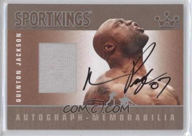 2007 Sportkings Series A - Autograph Memorabilia - Silver #AM-QJ - Quinton Jackson