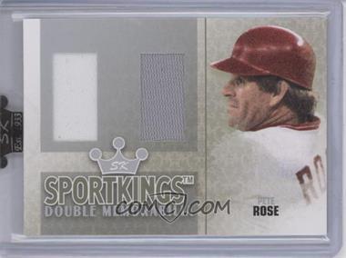 2007 Sportkings Series A - Double Memorabilia - Silver #DM-08 - Pete Rose