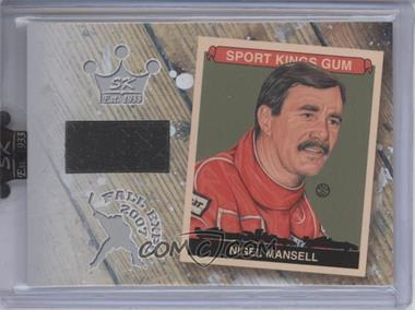 2007 Sportkings Series A - Fall Expo Memorabilia - Silver #FE-11 - Nigel Mansell /9