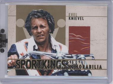 2007 Sportkings Series A - Single Memorabilia - Gold #SM-05 - Evel Knievel