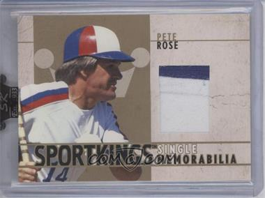 2007 Sportkings Series A - Single Memorabilia - Gold #SM-44 - Pete Rose